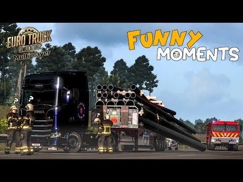 Euro Truck Simulator 2 Multiplayer Funny Moments & Crash Compilation #77