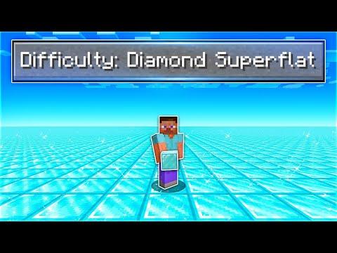 I Beat Minecraft in a Diamond Super Flat World..