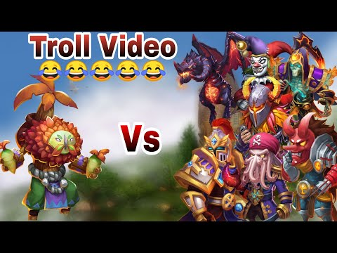 Plant Warrior Vs Old School Hero | No Pet/Warden | With Insingia | Castle Clash