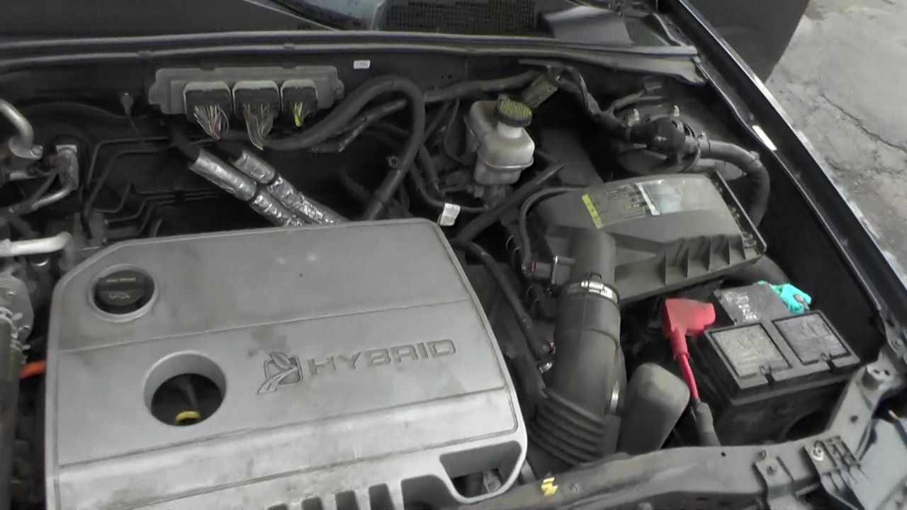 2009 Ford Escape Hybrid Engine Start And Shut Down Youtube