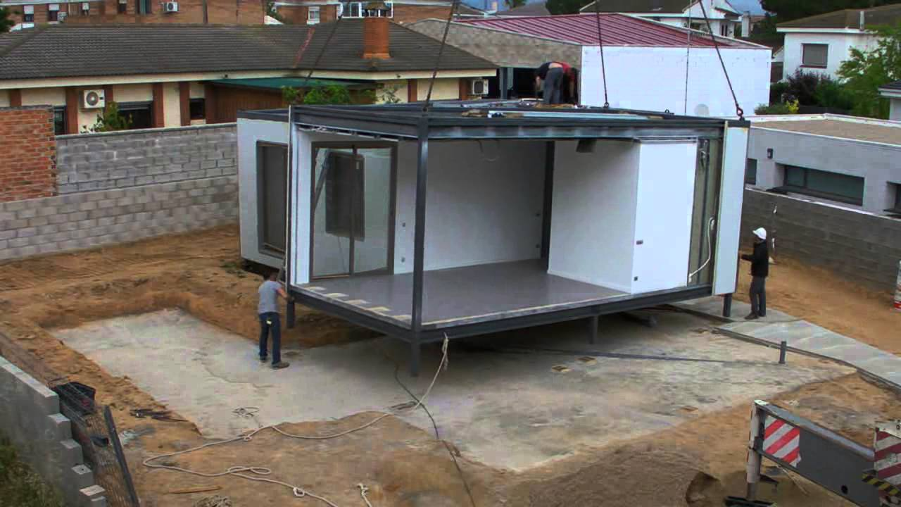 Casa prefabricada modular en tarragona youtube - Casas prefabricadas por modulos ...