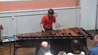 Velocities for marimba - Schwantner