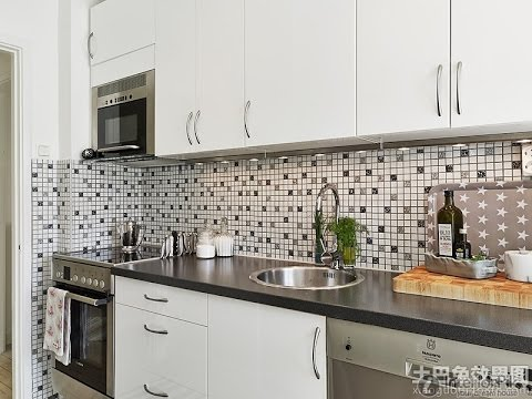Elegant Kitchen Wall Tiles For Black Worktop Ideas