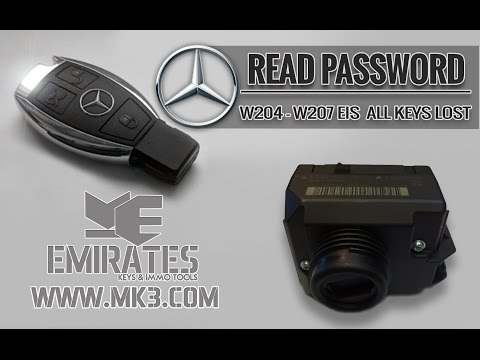HOW TO READ PASSWORD FROM MERCEDES W204 &W207 EIS ALL KEYS LOST BY VVDI MB