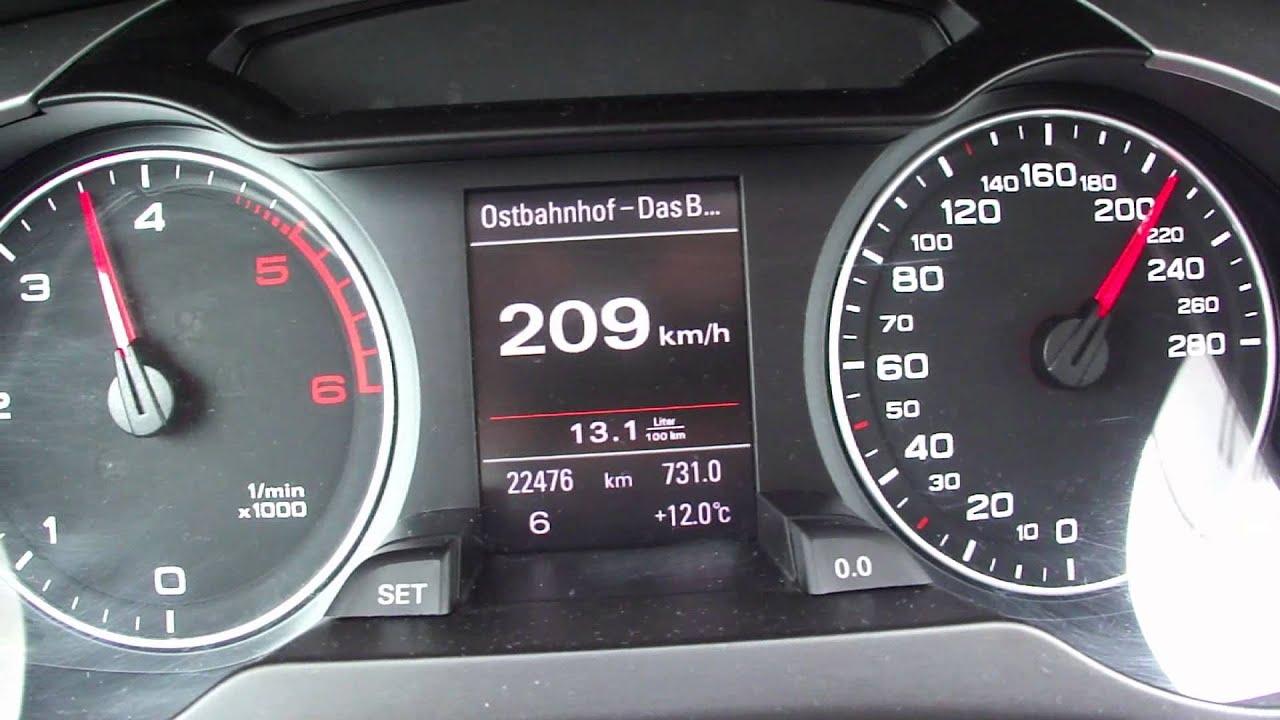 2012 Audi A4 2.0 TDI Avant Top Speed - YouTube