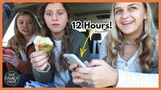 On Her iPhone for 12 HOURS in ONE DAY!
