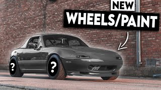 homepage tile video photo for HIGH COMPRESSION Turbo Miata Gets a HUGE MAKEOVER!!! (New Paint & Wheels)