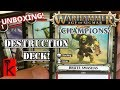 CAMPAIGN DECK: DESTRUCTION UNBOXING! Warhammer Champions / Age of Sigmar