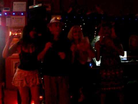 Karaoke @ The Cavern - Trevor and his backing dancers......