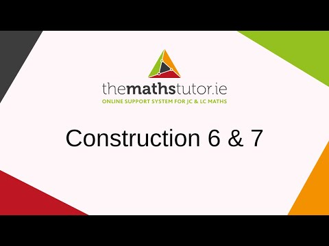 Constructions 6 & 7 Division of a line segment into 2, 3 or any number equal segments