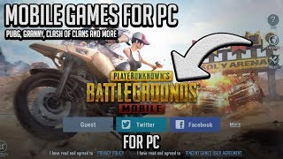 How To Play Android & Iphone Games On Your PC (Granny, PUBG, Clash Of Clans)