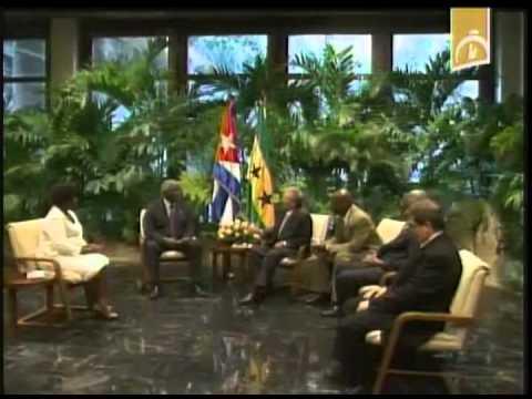 Cuba: Raúl Castro recibe al Presidente de Sao Tomé y Príncipe