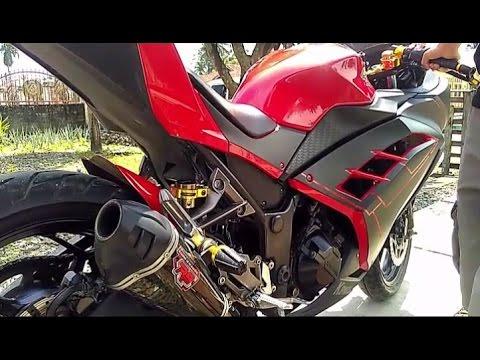 Modifikasi Kawasaki Ninja 250 Fi Aksesoris Bikers Gold