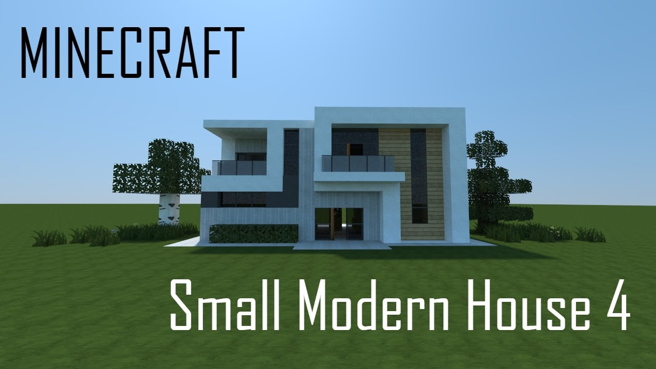 minecraft small modern house download