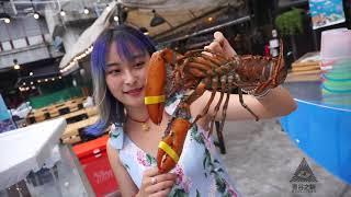泰国曼谷海鲜烧烤自助餐:只要599泰铢,大头虾吃到爽!