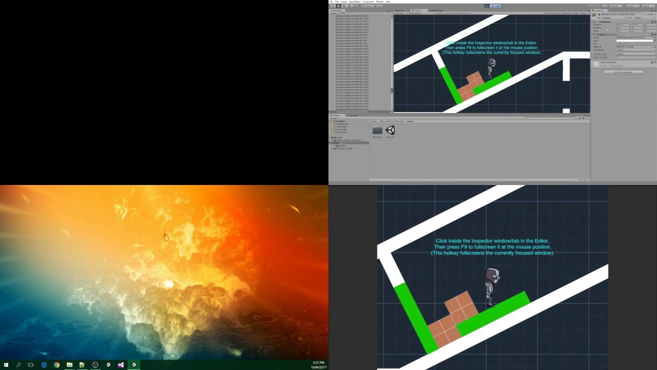 Editor Window Fullscreen – Crystal Conflux
