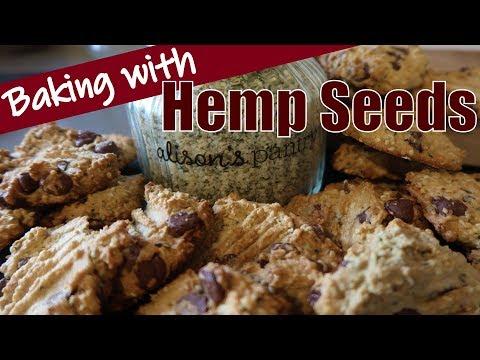 Hemp Seed Chocolate Chip Cookies / Baking with Hemp Seeds