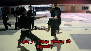 "Silat Seni Gayong : Lesson 3 (Few ""Elakan"" Revision For The Beginners)"