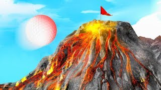 VOLCANO HOLE IN ONE! (Golf It)