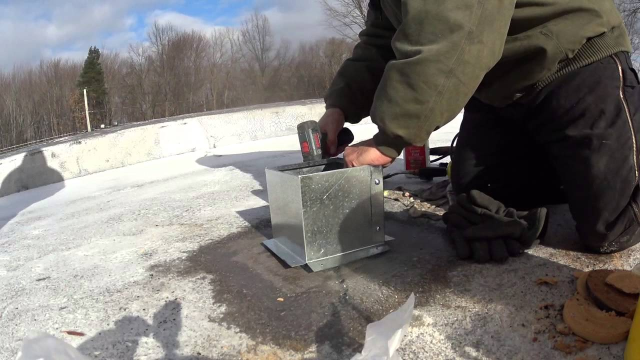 Install Two Pitch Boxes On A Roof In 8 Degree Wind Chill