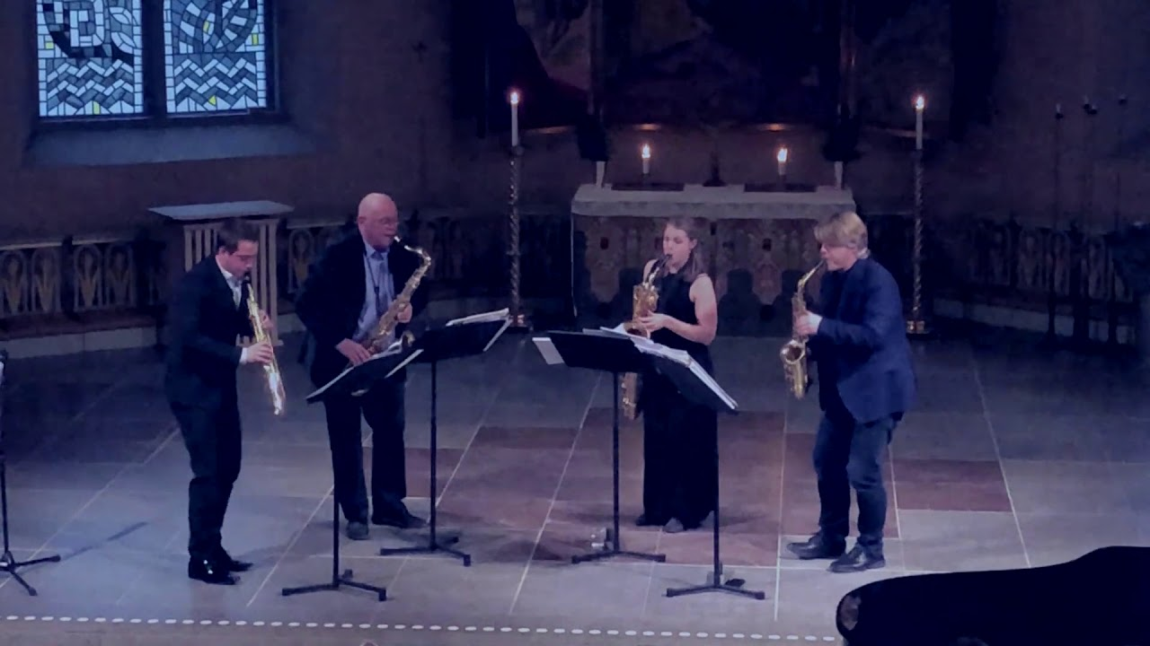 David Mastikosa: Nucleus  | Stockholm Saxophone Quartet | Christinae kyrka, Alingsås | fragment