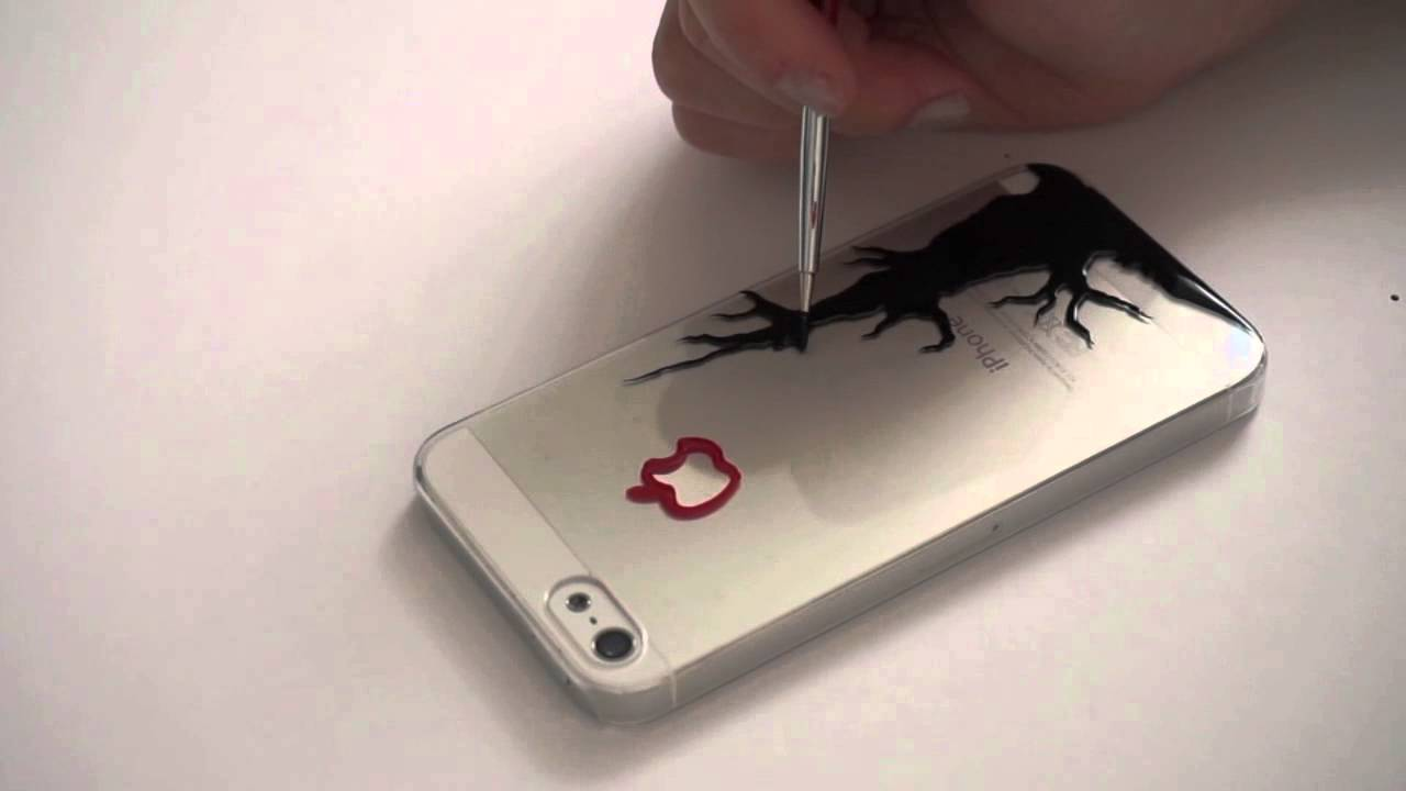 how to draw on a phone case