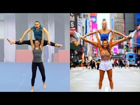 Trying the Rybka Twins' Acro Stunts