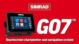 the simrad go7 touchscreen chartplotter and navigation system
