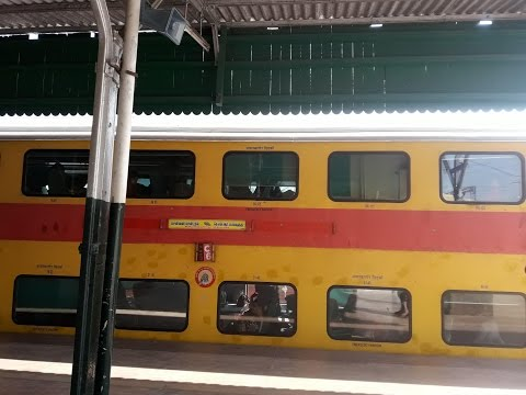 Bangalore Double decker Indian train travel
