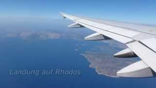 Anflug und Landung auf Rhodos