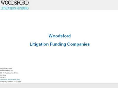 Woodsford Litigation Funding - Looking for a Litigation Funding Company?