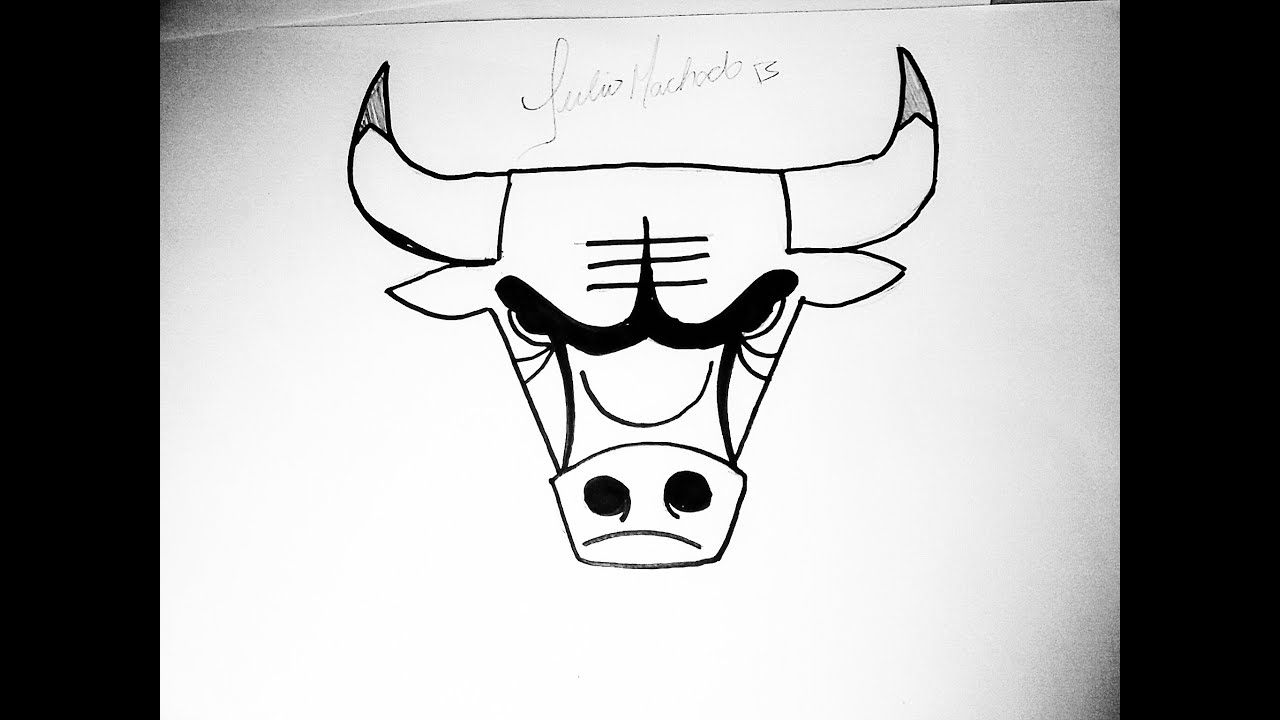 nba how to draw chicago bulls logo youtube