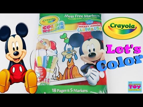 disney-mickey-mouse-color-wonder-crayola-coloring-pack-toy-review-|-pstoyreviews