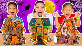 Halloween Haunted Chocolate Cookie House Kit With Kyrie & DJ's Clubhouse