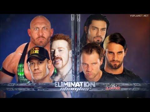 John Cena, Ryback, Sheamus vs The Shield - Elimination Chamber 2013