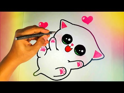 Как нарисовать милые рисунки видео