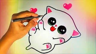 Как нарисовать милого КОТЁНКА? Лёгкие рисунки для детей №244