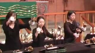 Kiriku playing Song Along Seas on Handbells