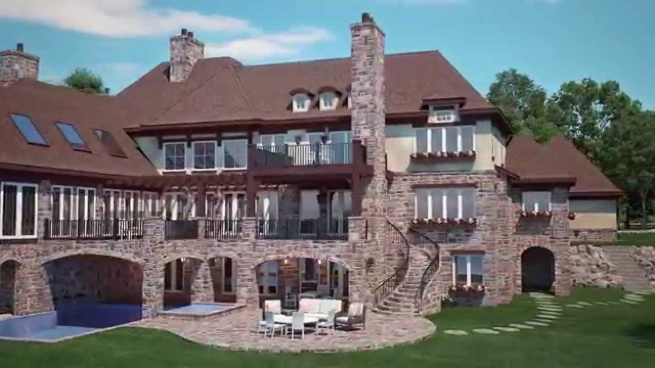 Tuscan villa lake home wing lake mi youtube for Building a house in michigan