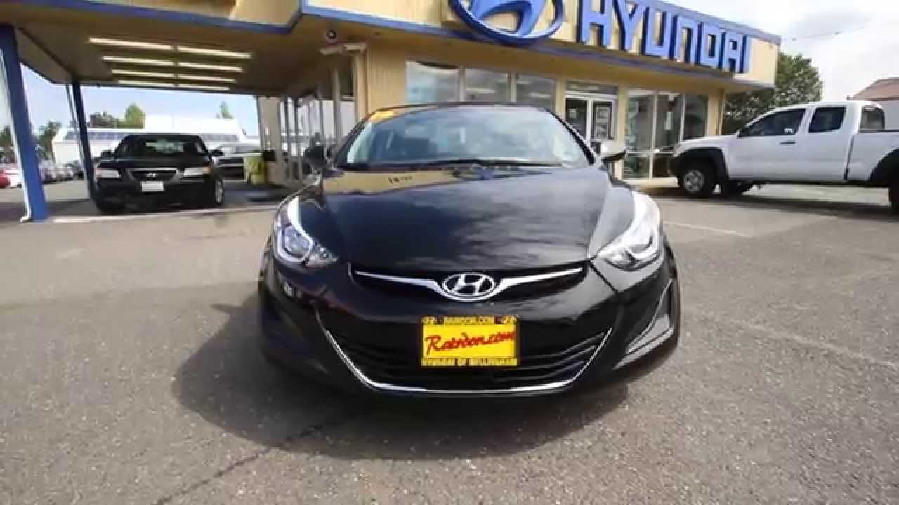 hyundai elantra 2016 black. 2016 hyundai elantra phantom black gh667264 skagit county mt vernon youtube a