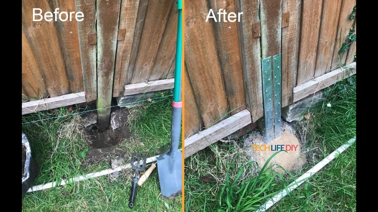 How To Fix A Leaning Fence Without Replacing The Fence Post ...