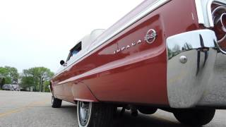 1964 Chevy impala SS red convertible for sale at www coyoteclassics com
