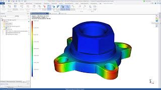 T-FLEX CAD 15 - Расчёт статической прочности фланца (экспресс-расчёт)