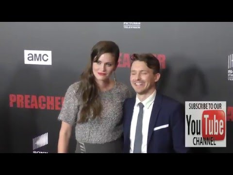 Marshall Allman and Jamie Anne Allman at the Premiere Of AMC's Preacher at Regal LA Live Stadium 14