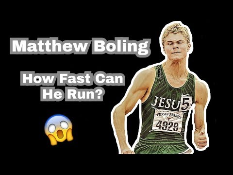 MATTHEW BOLING - HOW FAST CAN HE RUN?
