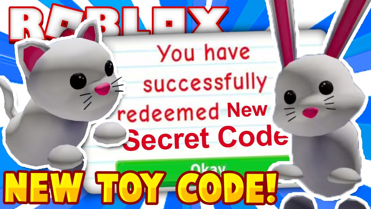 Codes For Pets In Adopt Me Roblox 2019 New Secret Adopt Me Code How To Get New Pet Item In Roblox Roblox Toy Codes Series 8 Working 2020