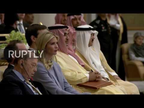 Saudi Arabia: Is Wilbur Ross napping during Trump speech?