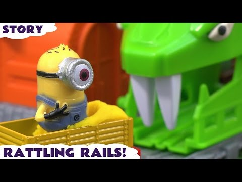 Minions Thomas & Friends Cars Avengers Hulk & Ultron Toy Trains for kids Story Rattling Rails TT4U