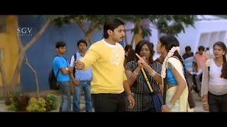 Heroine Angry on Prajwal Devaraj's Behaviors In College | Jeeva Kannada Movie Best Scene | Ruthuva