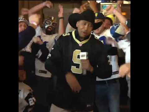 buy popular df6de ddc82 Stephen A Smith comes out on first take wearing Drew Brees jersey in front  of cowboys fans